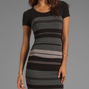 James Perse  Multi Layer Stripe Dress